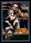 2003 Topps #306   -  Chad Pennington Weekly Wrap-Up Front Thumbnail