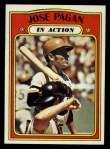 1972 Topps #702   -  Jose Pagan In Action Front Thumbnail