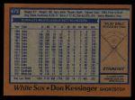 1978 Topps #672  Don Kessinger  Back Thumbnail