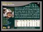 2001 Topps #171  Ray Lucas  Back Thumbnail