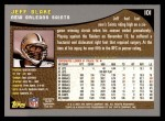 2001 Topps #101  Jeff Blake  Back Thumbnail