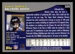 2001 Topps #329  Chris Barnes  Back Thumbnail