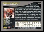 2001 Topps #255  Brandon Bennett  Back Thumbnail