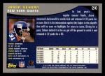 2001 Topps #210  Jason Sehorn  Back Thumbnail