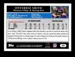 2005 Topps #187  Onterrio Smith  Back Thumbnail