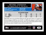 2005 Topps #183  Bethel Johnson  Back Thumbnail