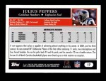 2005 Topps #17  Julius Peppers  Back Thumbnail