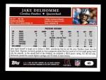 2005 Topps #65  Jake Delhomme  Back Thumbnail