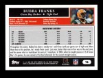2005 Topps #96  Bubba Franks  Back Thumbnail