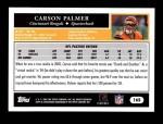 2005 Topps #165  Carson Palmer  Back Thumbnail