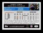 2005 Topps #172  Jamal Lewis  Back Thumbnail