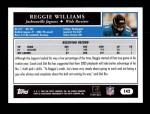 2005 Topps #142  Reggie Williams  Back Thumbnail