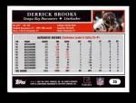 2005 Topps #25  Derrick Brooks  Back Thumbnail
