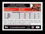 2005 Topps #7  Chad Johnson  Back Thumbnail