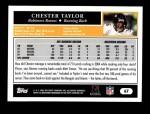 2005 Topps #67  Chester Taylor  Back Thumbnail