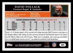 2005 Topps #364  David Pollack  Back Thumbnail