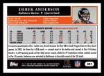 2005 Topps #397  Derek Anderson  Back Thumbnail
