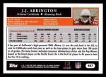 2005 Topps #407  J.J. Arrington  Back Thumbnail