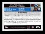 2005 Topps #285  D.J. Williams  Back Thumbnail