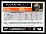 2005 Topps #361  Taylor Stubblefield  Back Thumbnail