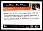 2005 Topps #369  Khalif Barnes  Back Thumbnail