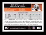 2005 Topps #279  Roy Williams  Back Thumbnail