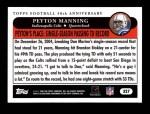 2005 Topps #327   -  Peyton Manning Golden Moments Back Thumbnail