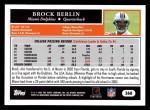 2005 Topps #368  Brock Berlin  Back Thumbnail