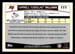 2006 Topps #111  Cadillac Williams  Back Thumbnail