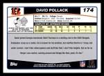 2006 Topps #174  David Pollack  Back Thumbnail
