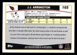 2006 Topps #165  J.J. Arrington  Back Thumbnail