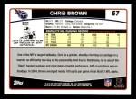 2006 Topps #57  Chris Brown  Back Thumbnail
