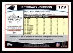 2006 Topps #179  Keyshawn Johnson  Back Thumbnail