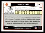 2006 Topps #39  Charlie Frye  Back Thumbnail