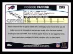 2006 Topps #205  Roscoe Parrish  Back Thumbnail
