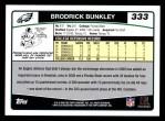 2006 Topps #333  Brodrick Bunkley  Back Thumbnail