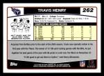 2006 Topps #262  Travis Henry  Back Thumbnail