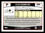 2006 Topps #250  Alge Crumpler  Back Thumbnail