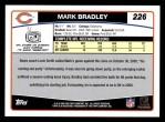 2006 Topps #226  Mark Bradley  Back Thumbnail