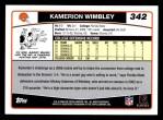 2006 Topps #342  Kamerion Wimbley  Back Thumbnail