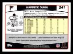 2006 Topps #241  Warrick Dunn  Back Thumbnail
