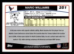 2006 Topps #351  Mario Williams  Back Thumbnail