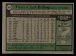 1979 Topps #388  Jack Billingham  Back Thumbnail