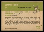 1961 Fleer #120  Jimmy Orr  Back Thumbnail
