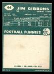 1960 Topps #44  Jim Gibbons  Back Thumbnail