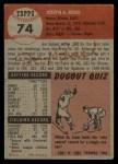 1953 Topps #74  Joe Rossi  Back Thumbnail