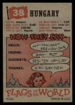 1956 Topps Flags of the World #38   Hungary Back Thumbnail
