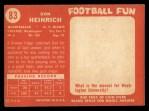 1958 Topps #83  Don Heinrich  Back Thumbnail