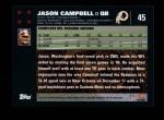 2007 Topps #45  Jason Campbell  Back Thumbnail