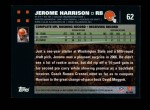 2007 Topps #62  Jerome Harrison  Back Thumbnail